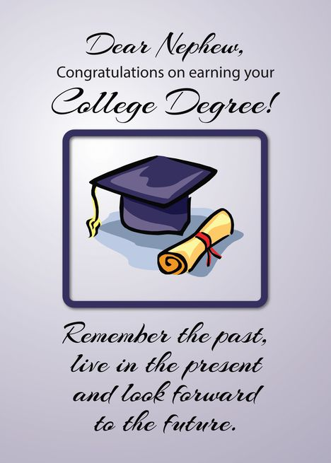 Nephew College Graduation Remember The Past Card Ad Ad College Neph Graduation Congratulations Quotes Graduation Card Messages Funny Graduation Cards