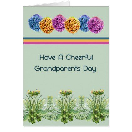 Grandparents Day Card With Hydrangers And Plants Zazzle Com Grandparents Day Cards Holiday Card Diy Daddy Birthday Gifts