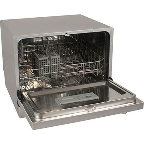 Portable Compact Countertop Dishwasher Silver Energy Star Apartment Dish Washer The Built In Rinse Countertop Dishwasher Portable Dishwasher Dishwasher White