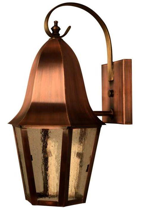 Dark Sky Compliant Handmade Copper Lanterns And Custom