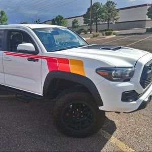 Kit Toyota Tacoma Trd Back To The Future Monochrome Retro Etsy