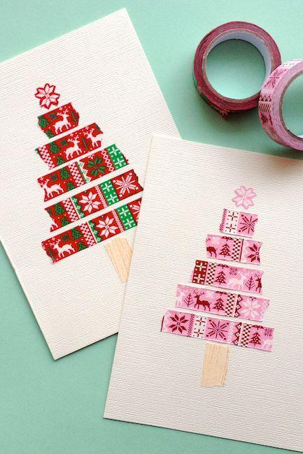Diy Christmas Card Ideas To Show Your Creativity This Season Diy Christmas Cards Easy Christmas Tree Cards Christmas Card Design
