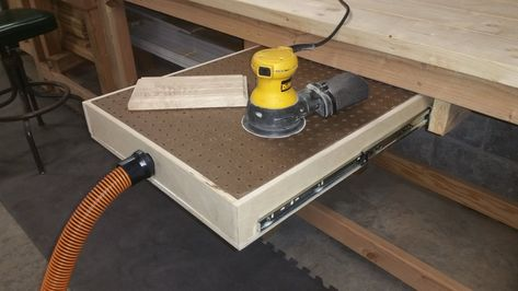 How to Build a Down Draft Sanding Table How to Build a Down Draft Sanding Table woodworking bench woodworking bench bench diy bench garage workbench bench plans crafts christmas crafts diy crafts hobbies crafts ideas crafts to sell crafts wooden signs Woodworking Ideas Table, Woodworking Workbench, Woodworking Workshop, Woodworking Techniques, Woodworking Projects Diy, Woodworking Furniture, Woodworking Shop, Wood Projects, Woodworking Videos