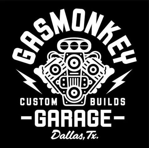 Playera oficial de Kyd de Gas Monkey Garage con logotipo lateral