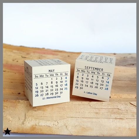 2019 printable calendar modern box desk calendar 3d printable paper new year cubicle accessories