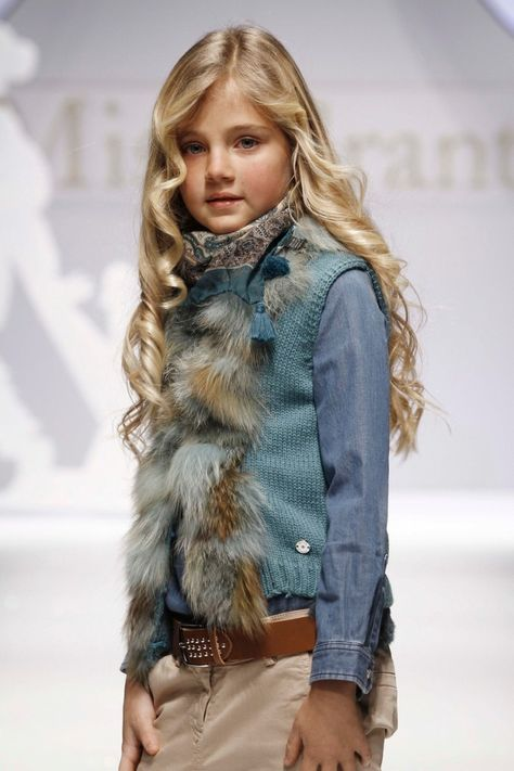Miss Grant FW Italian labels for children love a luxury touch and fur trims or in fact coats are not uncommon for the winter season.