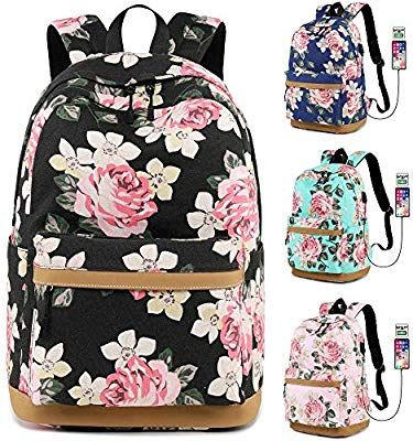 c7403de03c0f Amazon.com | MORGLOVE Canvas Backpack for Girls Teenager High School ...
