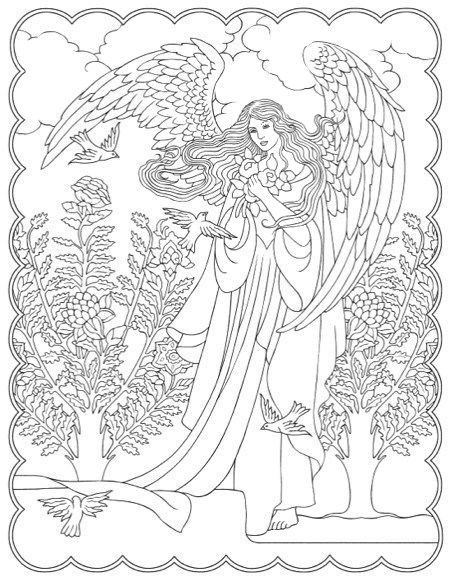 Omeletozeu Angel Coloring Pages Coloring Books Coloring Pages
