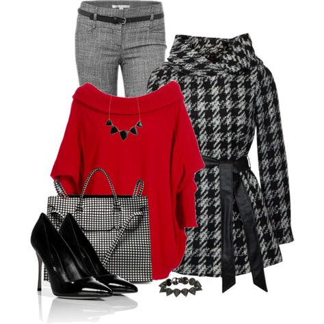 """""""Houndstooth"""" by daiscat on Polyvore"""