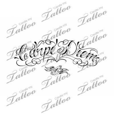 marketplace tattoo carpe diem lettering upward  marketplace tattoo carpe diem lettering upward 3351 createmytattoo com calligraphy tattoo designs carpe diem tattoo and custom tattoo
