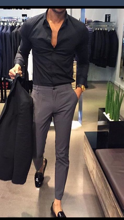pics Black Style Formal Black Style Shirts For Men men fashion casual outfits