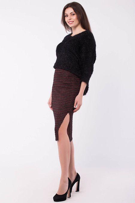 2b9d494742b Вязаная юбка RAMINA в полоску с люрексом