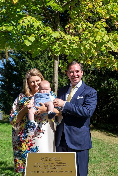 AND IN OTHER ROYAL NEWS... In celebration of the birth of their first child, Prince Guillaume of Luxembourg and Princess Stéphanie planted a tree in Luxembourg, accompanied by their four-month-old son Prince Charles — although the chubby cheeked royal babe looked less than amused.