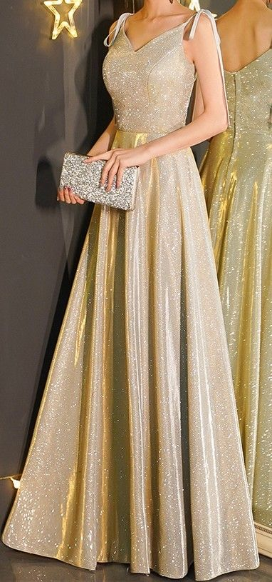 Golden Sparkly Gown Gold Evening Gowns Yellow Sparkly Dresses Gold Evening Dresses