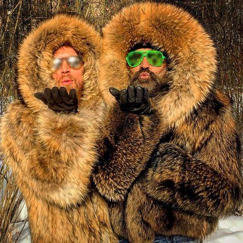 Men's Short Hooded Faux Fur Coat – untiup