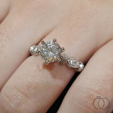 a75f4f343a968 Kirk Kara 18K White and Rose Gold Diamond Engagement Ring Setting ...