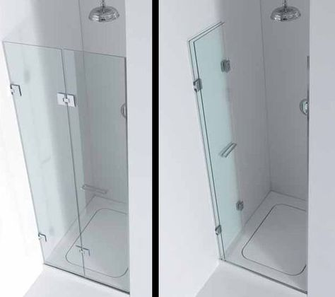 Showers Small Shower Stall Like The Bifold Door With Images