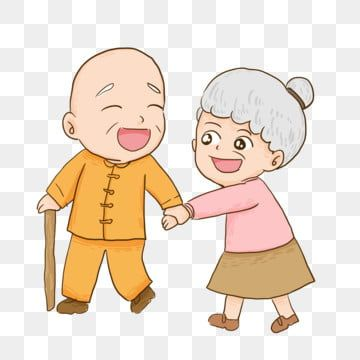 Hand Drawn Happy Cute Two Old Man Characters Design Old Man Clipart Hand Painted Cartoon Png Transparent Clipart Image And Psd File For Free Download Character Design How To Draw Hands