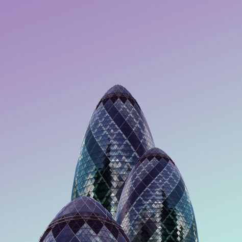 Pastel-toned photographs of London by Simone Hutsch