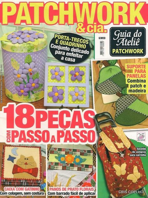 Revistas - patchwork on Pinterest | Patchwork, Manualidades and Html