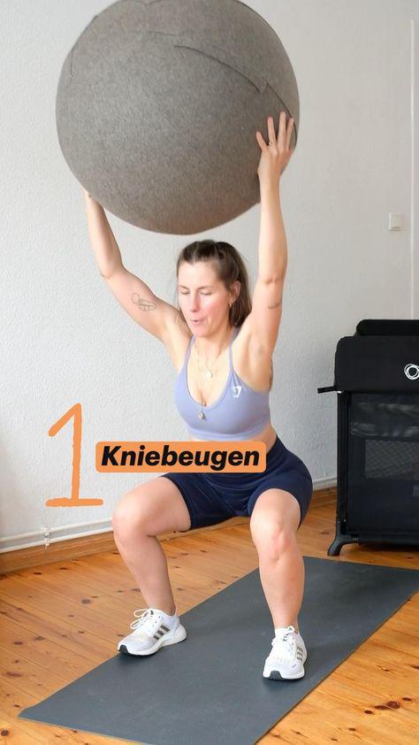 5 Übungen für den ganzen Körper mit Gymnastik Ball - ideal nach der Schwangerschaft