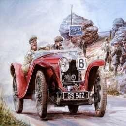لعبة رسم وتركيب صور سيارات قديمة Painting Vintage Cars Jigsaw Puzzle 2 Antique Cars Vintage Race Car Automotive Art