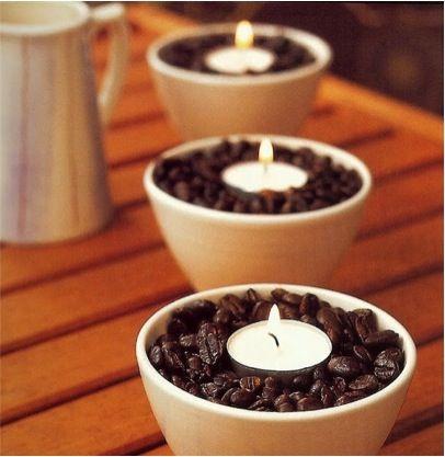 Imagina el olor de estas velas cuando el café se caliente