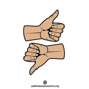 Thumb Up And Thumb Down Vector Image Publicdomain Vectorgraphics Freevectors Illustrator Clipart Freevectors Clip Art Free Clip Art Thumbs Down