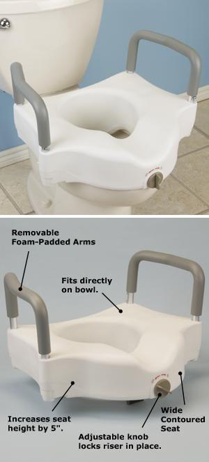 Locking Toilet Seat Riser And Arms Toilet Seat Riser Seating