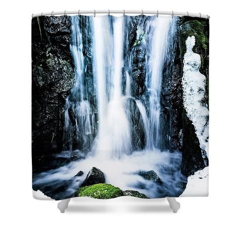 Early Spring Waterfall Shower Curtain For Sale By Nicklas