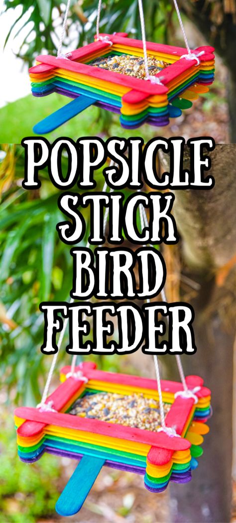 Popsicle Stick Bird Feeder Craft Made with HAPPY Popsicle Stick Bird Feeder Popsicle Stick Crafts Craft Stick Kids Crafts DIY Birdfeeder Kids Birdfeeders Camping Crafts for Kids The Effective Pictures We Offer You Garden Crafts For Kids, Camping Crafts For Kids, Summer Camp Crafts, Recycled Crafts Kids, Spring Crafts For Kids, Toddler Crafts, Diy For Kids, Crafts For Camp, Cool Kids Crafts