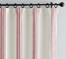 Antique Stripe Print Curtain Red Pottery Barn Ticking Stripe Curtains Curtains Striped Curtains