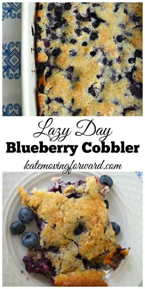 Lazy Day Blueberry Cobbler Recipe. A simple and easy recipe that is perfectly sweet. Try it for your next get-together!