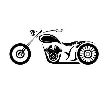 Illustration Of Vector Silhouette Of Classic Motorcycle Vector Motorcycle Icon Vector Art Clipart And Motorcycle Icon Classic Motorcycles Motorcycle Drawing