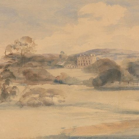 Landscape With Country House By Peter De Wint Landscape Country