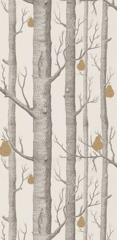 Papier Peint Woods And Pears Cole And Son And Woods Pears In 2020 Wood Wallpaper Black And White Wallpaper White Wallpaper