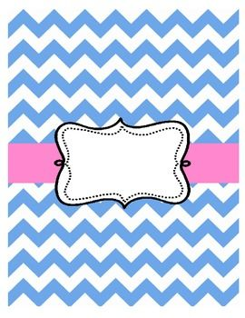 Chevron Binder Covers (editable and free) - A Year of Many Firsts ...