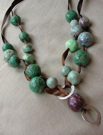 Diy Jewelry Paper Papier Mache 38 Ideas Diy Paper Bead Jewelry Diy Jewelry Beaded Necklace