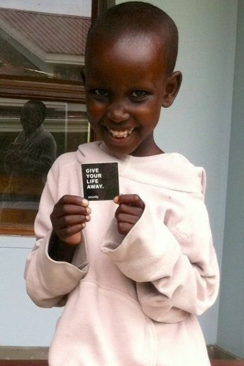 A little world changer we're helping this week! Can't wait to give her a new pair of #Sevenly donated shoes :)