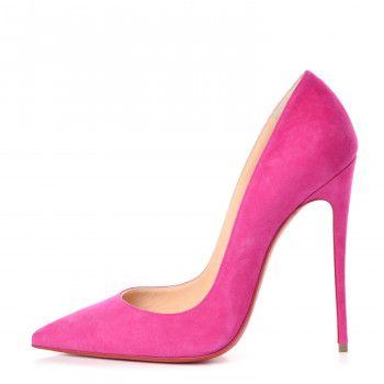 e9f47fd590f CHRISTIAN LOUBOUTIN Veau Velours So Kate 130 Pumps 39 Pink ...