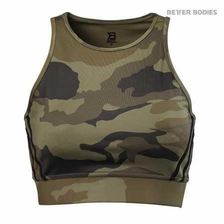 Chelsea Halter is a cool camouflage top that offers a medium strong support. It's made out of a breathable and moisture wicking fabric that suits perfectly