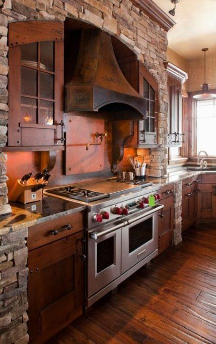 House Rustic Mountain Kitchen Designs 17 Ideas For 2019 Rustic