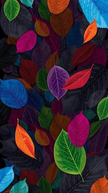 Color Leaves Colorful Wallpaper Flower Phone Wallpaper Cellphone Wallpaper Cool colorful cellphone wallpapers