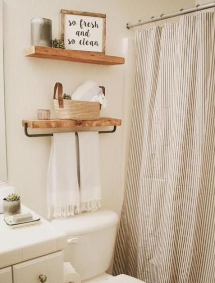 49 Ideas For Farmhouse Bathroom Shower Curtain Rustic Farmhouse
