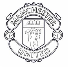 Soccer Clubs Logos Manchester United Logo Football Coloring Pages Manchester United