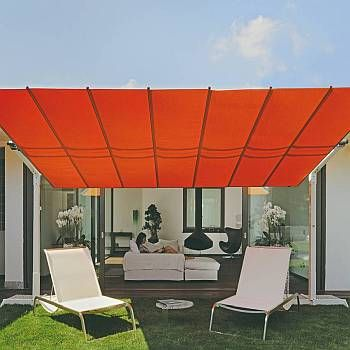 Flexy 10ft Deep Commercial Freestanding Retractable Awning Tilting Canopy Flexy10 Outdoor Shade Patio Umbrellas Patio Canopy