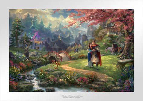 Disney Mulan Blossoms of Love - Limited Edition Paper (SN - Standard Numbered) - SN - Standard Numbered / 12 x 18 / Unframed