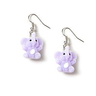 ♥ Fuzzy Elephant Drop Earring from Claire's. ♥ Fuzzy Elephant Drop Earring von Claire & # s.