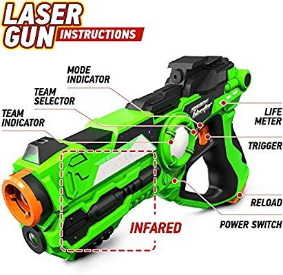Amazon Com Laser Tag Guns Set Of 4 Laser Guns Best Toys For Boys Teens 7 14 Years Old Novelty Fun Gifts For B Cool Toys For Boys Toys For Boys Cool Toys