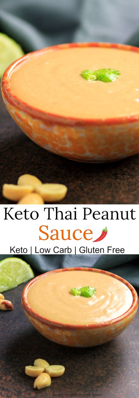 Keto Thai Peanut Sauce | Beauty and the Foodie